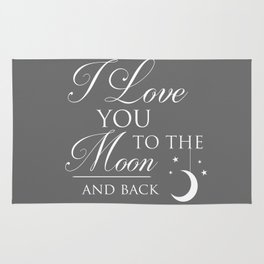 I Love You To The Moon & Back Children's Quote Rug