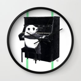 Piano Panda Wall Clock