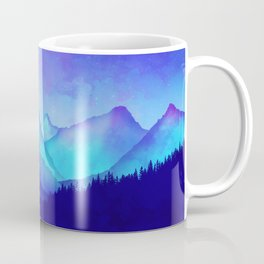 Cerulean Blue Mountains Coffee Mug