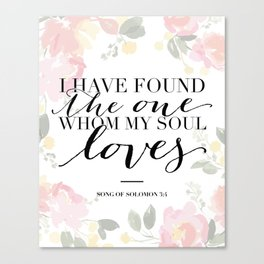 Song of Solomon 3:4 Canvas Print