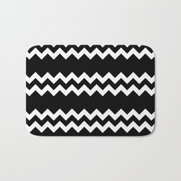 CLASSY (BLACK-WHITE) Bath Mat