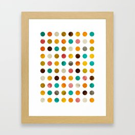 Autumnal polka dot Framed Art Print