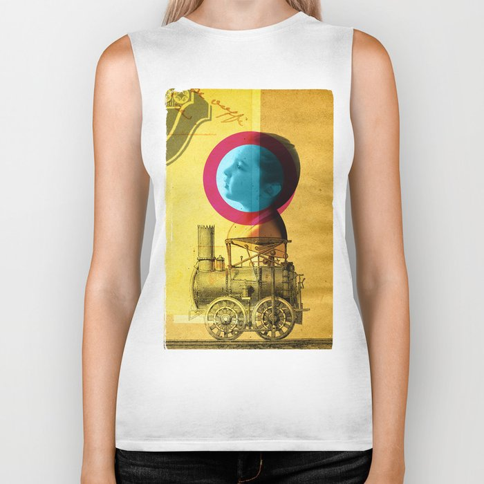 A childhood journey between reality and imagination... Biker Tank