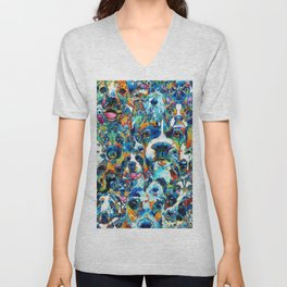 Dog Lovers Delight - Sharon Cummings Unisex V-Neck