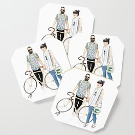 Amsterdam hipsters Coaster