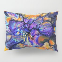 Purple and Orange Marble Pour Pillow Sham