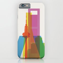 Shapes of Madrid. Accurate to scale. iPhone Case