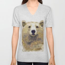 Golden Forest Bear Unisex V-Neck