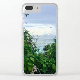 Lush Oceanside of Tulum Clear iPhone Case