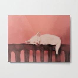 Sweet dreams kitten Metal Print