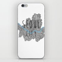 seoul iPhone & iPod Skins featuring Seoul city by Vania Pietronigro