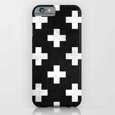 Black and white swiss cross pattern Slim Case iPhone 6