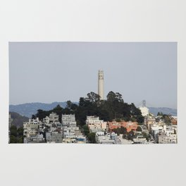 Streets Of San Francisco With Coit Tower Rug