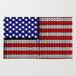 Bike USA Flag Rug