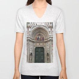 Duomo Door, Firenze Unisex V-Neck