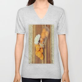 Lacy Clementines Unisex V-Neck
