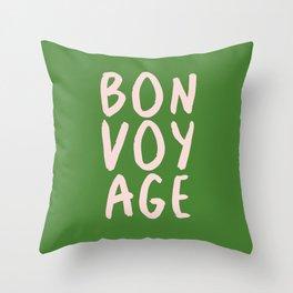 Bonvoyage! Throw Pillow