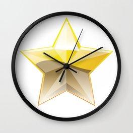 star christmas Wall Clock
