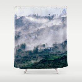 Foggy Mountain of Vietnam Shower Curtain