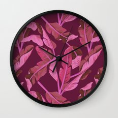 Tropical '17 - Ajaja [Banana Leaves] Wall Clock