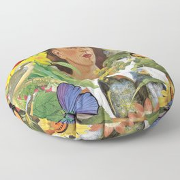 Frida Kahlo Collage Floor Pillow
