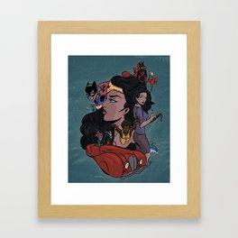 Modern Bombshells Framed Art Print