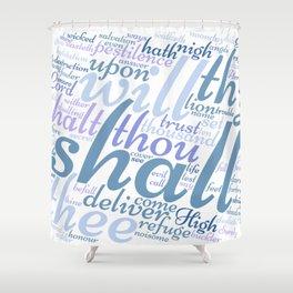 Psalm 91 Word Art Shower Curtain