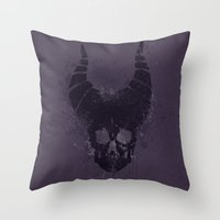maleficent Throw Pillows featuring maleficent  by jerbing