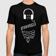 Possessed by the Beat (black) Mens Fitted Tee Black MEDIUM