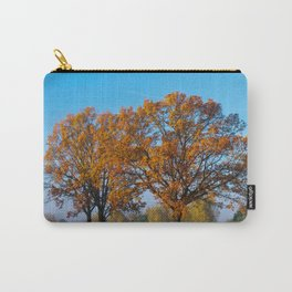 Oaks in the misty Autumn morning (Golden Polish Autumn) #2 Carry-All Pouch