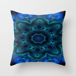 Battling At The Chasm Mandala 10 Throw Pillow