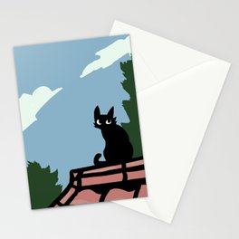 Outside Cat Contemplates Stationery Cards