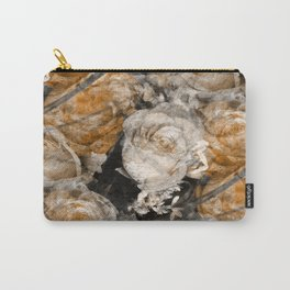 Tan Roses Carry-All Pouch