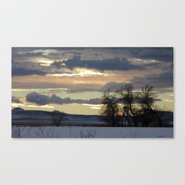 Sky and Silhouettes Canvas Print