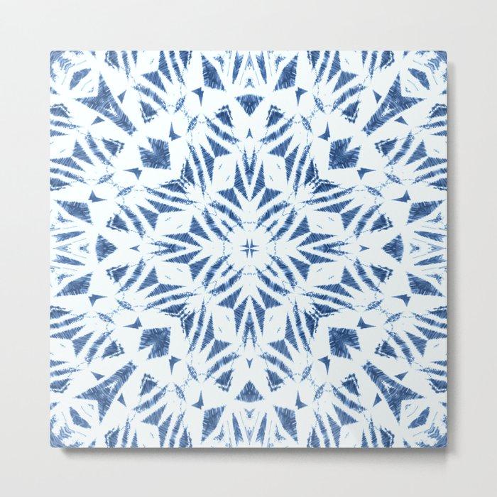 Arrowhead Denim White Metal Print