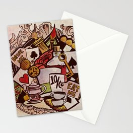 The hurrier I go, the behinder I get Stationery Cards