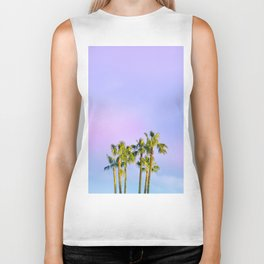 Summer Dreams with Palms Biker Tank