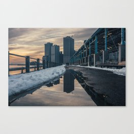 NYC relection Canvas Print