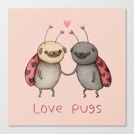 Love Pugs Canvas Print