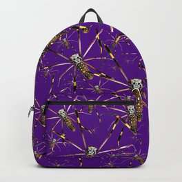 Watercolor Graphic Spider Crawl, Golden Orb Weaver Royale Backpack