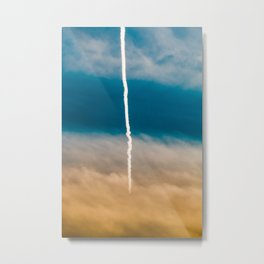 Contrail Sunset Metal Print