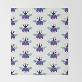 Beetle #5 Color Throw Blanket