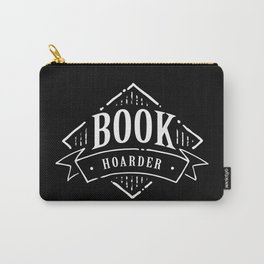 Book Hoarder BW Carry-All Pouch