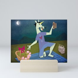 Serenading Unicorn Mini Art Print