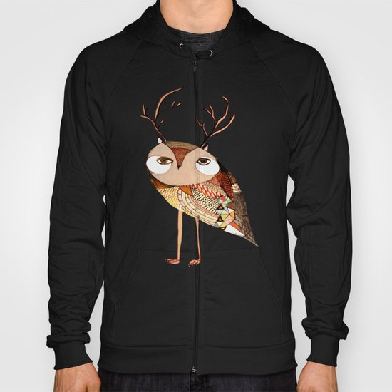 owl print, owl illustration, owl art, owl  Hoody