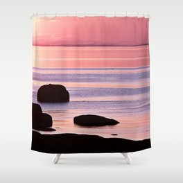 Lines in the Sea Shower Curtain