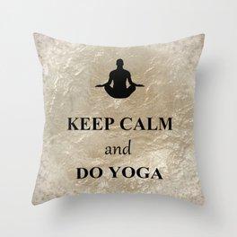 Keep Calm and Do Yoga Throw Pillow