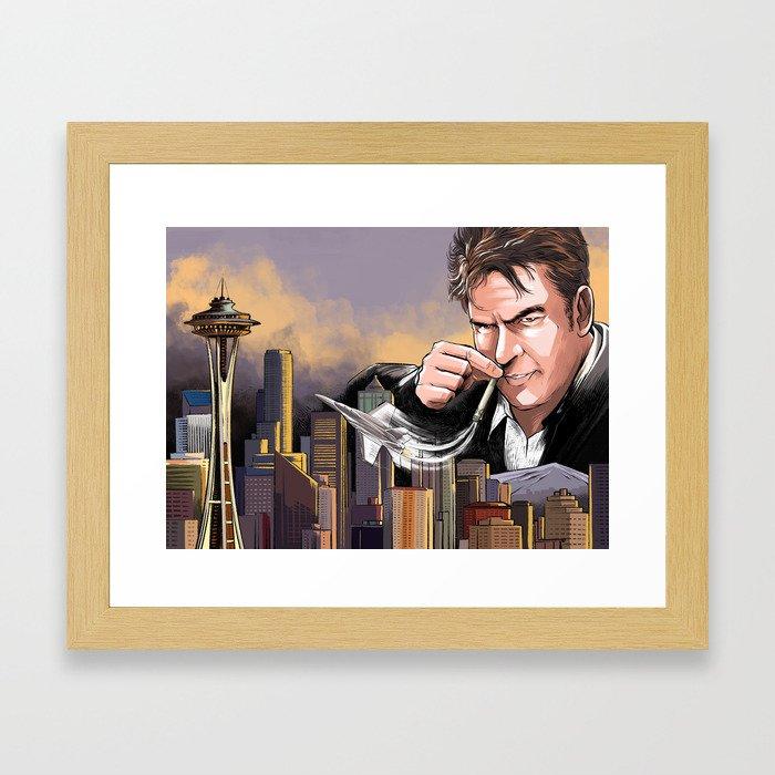 Chem Trails Smell Good Framed Art Print