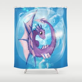 Purple Dragon Hatchling Shower Curtain