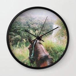 Horseback riding in New Zealand Wall Clock